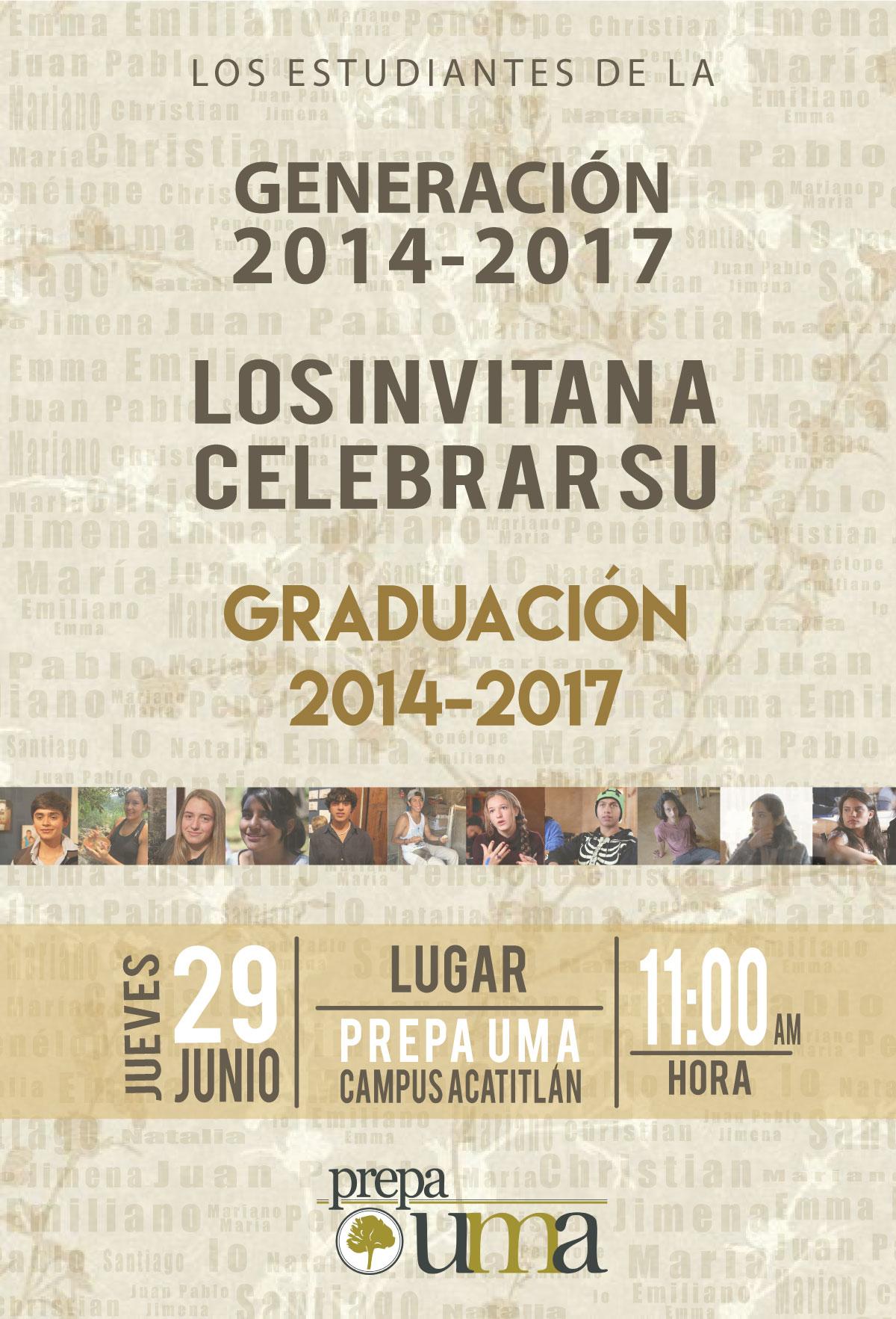 Graduación De La Generación 2014 2017 Prepa Uma