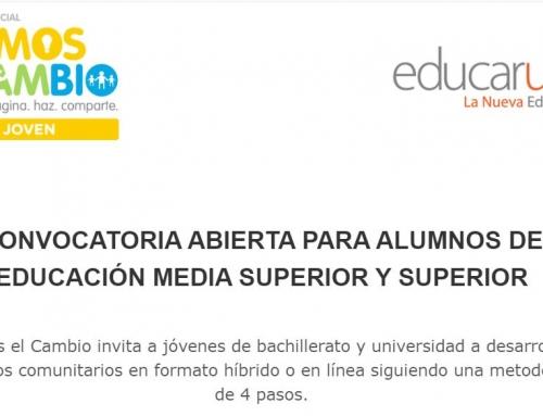 CONVOCATORIA ABIERTA PARA ALUMNOS DE EDUCACIÓN MEDIA SUPERIOR Y SUPERIOR